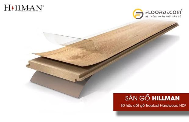 Cấu tạo sàn gỗ chống nước Hillman
