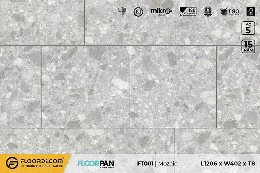 Sàn gỗ vân đá FT001 Stone Mozaic – 8mm – AC5