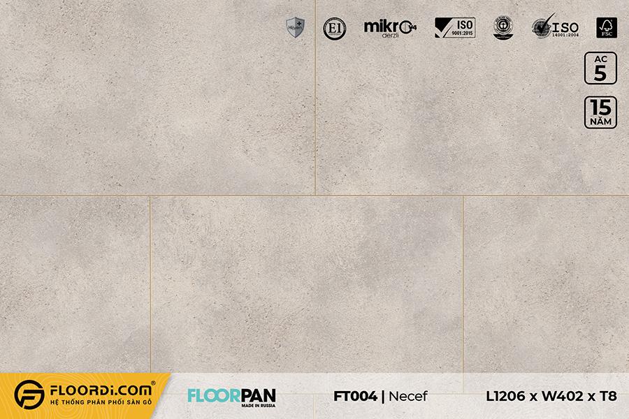 Sàn gỗ vân đá FT004 Stone Beige Concrete – 8mm – AC5