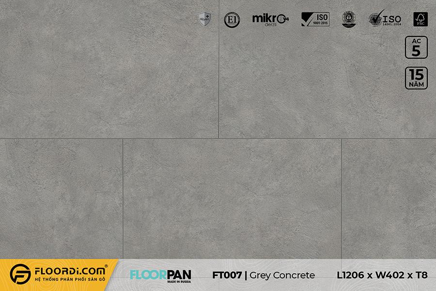 Sàn gỗ vân đá FT007 Stone Gray Concrete – 8mm – AC5