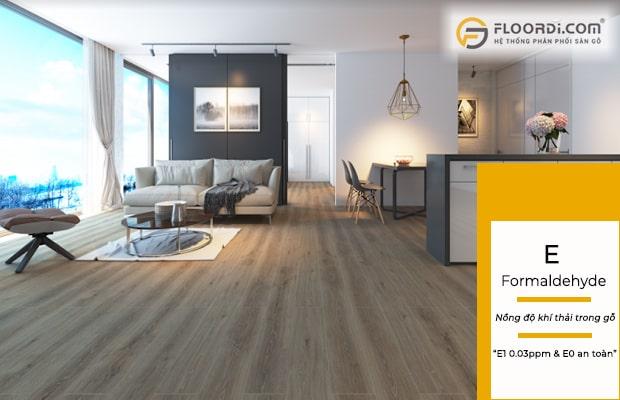E1 là tiêu chuẩn đảm bảo sàn gỗ sạch không ảnh hưởng đến sức khỏe người dùng